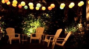 Un jardin illuminé